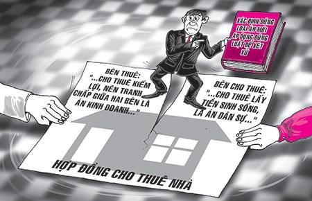bồi thường thiệt hại khi hủy hợp đồng thuê nhà