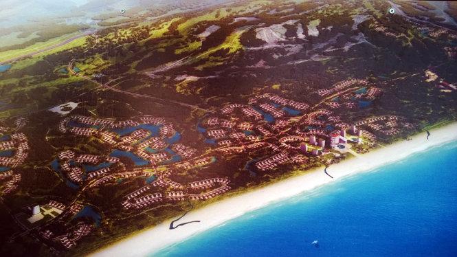 Phối cảnh toàn bộ dự án FLC Quảng Bình - Ảnh: QUỐC NAM